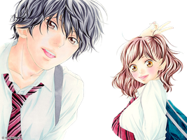 Ao Haru Ride Png by bloomsama