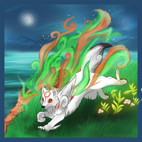 Amaterasu at Moonlight by Aspendragon