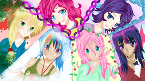 Mane 6 (Humanized) by ILoveLeafy