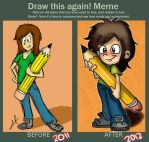 Draw this again meme by millegas