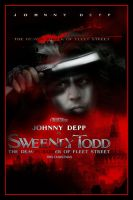 Sweeney Todd Movie Poster V by Rickbw1