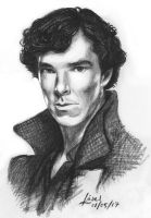Benedict Cumberbatch as Sherlock by FyreBirdi