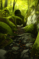 Mossy Trail Speedpainting by daPatches