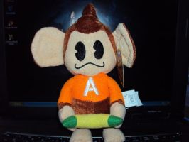 AiAi - Super Monkey Ball Plush by DazzyDrawingN2