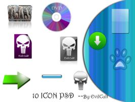 10Icons---PSD by EvilCult