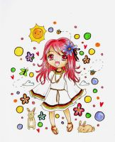 -: Hippie Girl :- by pinky-ichigo