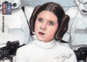 Star Wars G7 - Princess Leia Sketch Art Card 2 by DenaeFrazierStudios