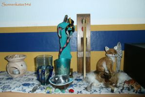 My altar on the 27th august 2016 by Sonnenkatze346
