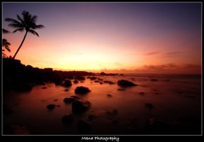 North Shore Sunset by manaphoto