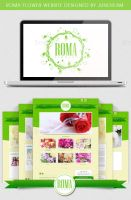 Romaflowers website by junoteamvn