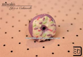 Donut Ring Purple by 3timesC