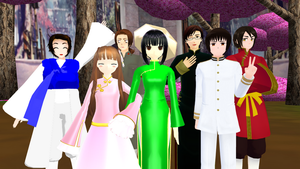 MMD Hetalia - The Asian countries by PikaBlaze
