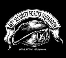 447th Security Forces Beret by vitaminrad