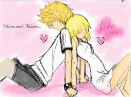 Roxas and Namine by Undecidedddddddddddd