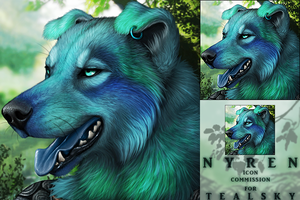 Tealsky Icon Commission by DarkIceWolf