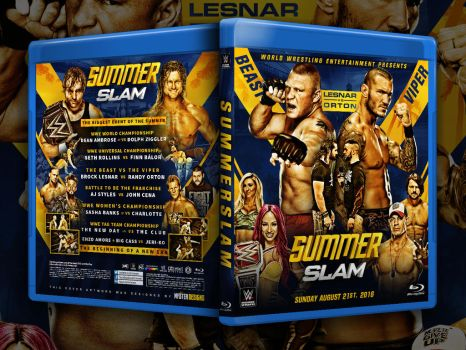 Summerslam 2016 custom Blu-ray cover by THE-MFSTER-DESIGNS