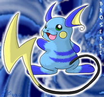 Brosebee, the Blue Raichu by crayon-chewer
