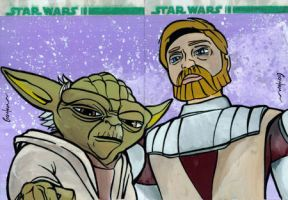 Clone Wars Sketch Card 3 by grahamart