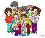 Family Portrait - Coloring reference by JadeDragonne