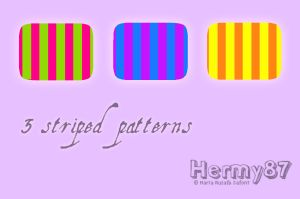 Striped patterns by Hermy87