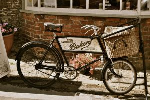 old bike in an old town by HemMah