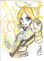 Kagamine Rin Sinestro Corps by redcomet519