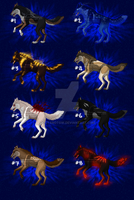 Wolf Adoptables Set 19 (OPEN) by KeitaroTGW