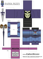 Paper Pezzy- Skeletor 200X by CyberDrone