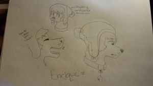 Enrique sketches by revei