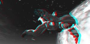 Gravity 3D anaglyph by JohnMo