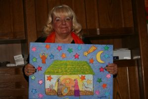 Ingeline and her christmas painting by ingeline-art