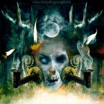 Extreme-dying-candle-death-metal-cover-abstract-ar by MOONRINGDESIGN