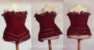 Miniature Corset dark red by RevelloDrive1630
