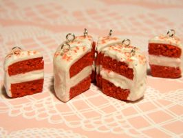 Red Velvet Cake Charms by Cheriko