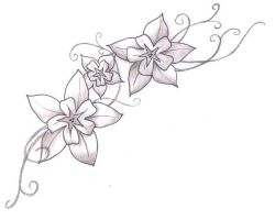 Flower Tat Updated by lone-wolf-wandering