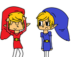 :Gift: Red and Blue Links :3 (for TealCrystal5657) by Smosher247