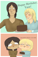 Happy Birthday, Ymir by freckledtrash