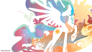 Celestia Silhouette Wall by SpaceKitty