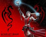 Scarlet Mage wallpaper by Ironshod