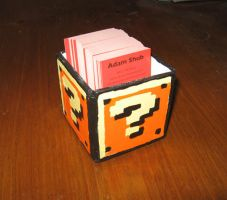 Coin Box Business Card Holder by Squarepainter