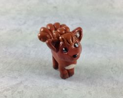 Mini Vulpix Sculpture by LeiliaClay