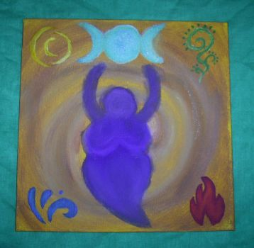 My Goddes-Painting by Annie-Petit