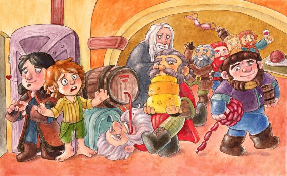 The Hobbit by Gigei