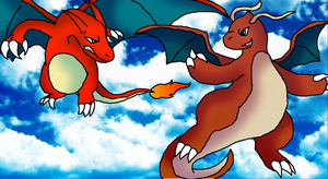 Dragonite doesnt like charizard by ShadowxJamie