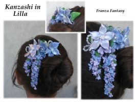 Kanzashi in lilla by Franza86