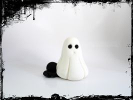 polymer clay ghost by GreenSpherePainting