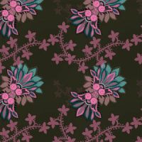 Stylized floral ornament pattern by brushfs