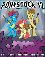 EverfreeNW Ponystock '12 Promo Poster by SpainFischer