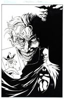 Batman-Joker commission by KenHunt