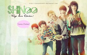 Shinee Chicken Poster by Joongielove12